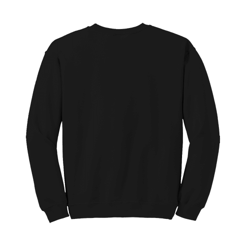Custom Printed Fruit of the Loom 82300R Supercotton 7030 Fleece Crewneck Sweatshirt - 2 - Back View   ThatShirt