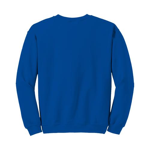 Custom Printed Fruit of the Loom 82300R Supercotton 7030 Fleece Crewneck Sweatshirt - Royal - Back View | ThatShirt