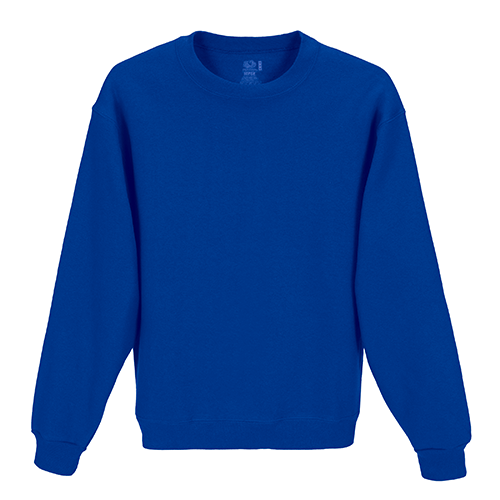 Custom Printed Fruit of the Loom 82300R Supercotton 7030 Fleece Crewneck Sweatshirt - 0 - Front View | ThatShirt