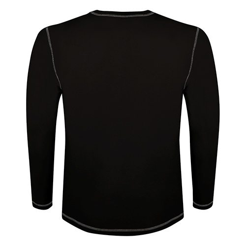 Custom Printed ATC 0821 Active Contrast Stitch Long-Sleeve Tee - 2 - Back View | ThatShirt