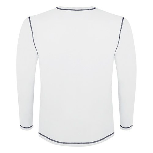 Custom Printed ATC 0821 Active Contrast Stitch Long-Sleeve Tee - 5 - Back View | ThatShirt