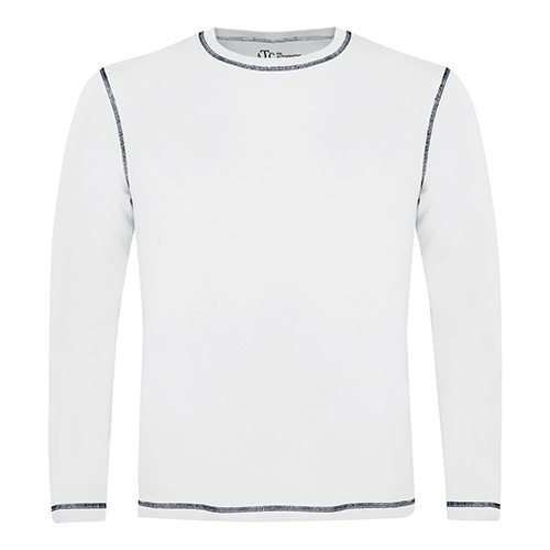 Custom Printed ATC 0821 Active Contrast Stitch Long-Sleeve Tee - Front View | ThatShirt