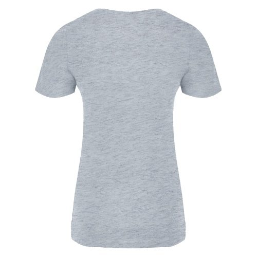 Custom Printed ATC 8000L Ladies' EuroSpun Tee - Athletic Grey - Back View | ThatShirt
