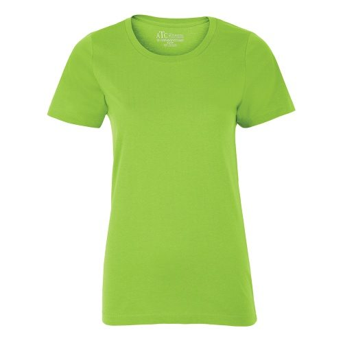 Custom Printed ATC 8000L Ladies' EuroSpun Tee - Front View   ThatShirt