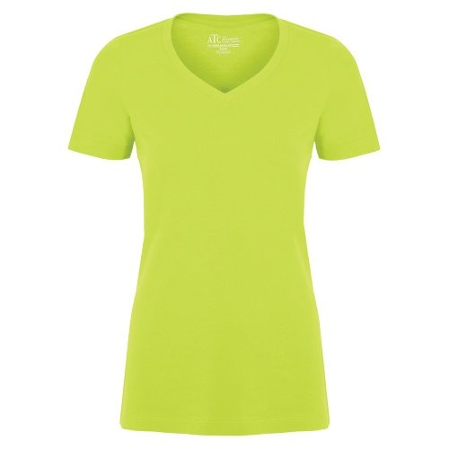 Custom Printed ATC 8001L Ladies' EuroSpun V-Neck Tee - Front View | ThatShirt