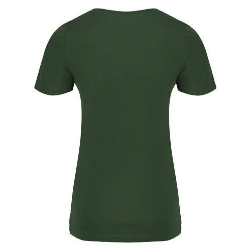Custom Printed ATC 8001L Ladies' EuroSpun V-Neck Tee - 8 - Back View | ThatShirt