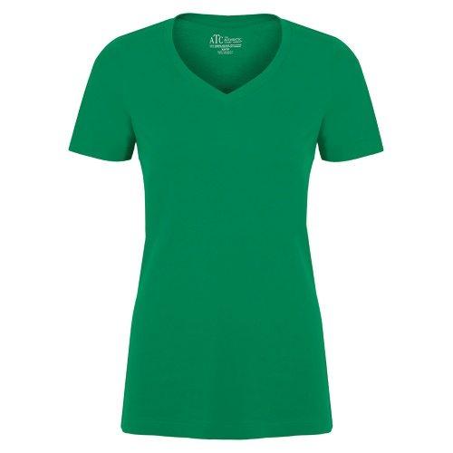 Custom Printed ATC 8001L Ladies' EuroSpun V-Neck Tee - Front View | ThatShirt