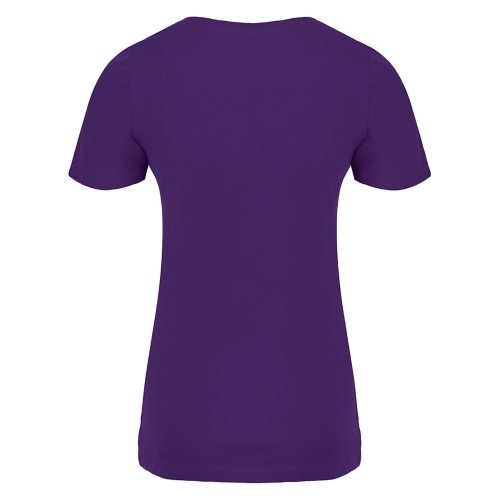 Custom Printed ATC 8001L Ladies' EuroSpun V-Neck Tee - 15 - Back View | ThatShirt