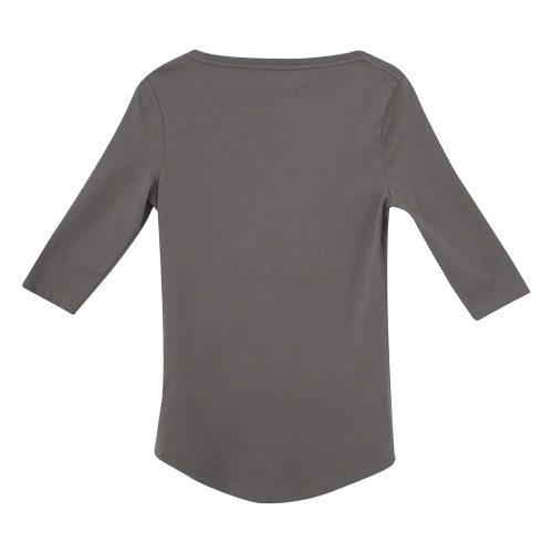 Custom Printed ATC 8003L Ladies' EuroSpun ¾ Sleeve Tee - Coal Grey - Back View | ThatShirt