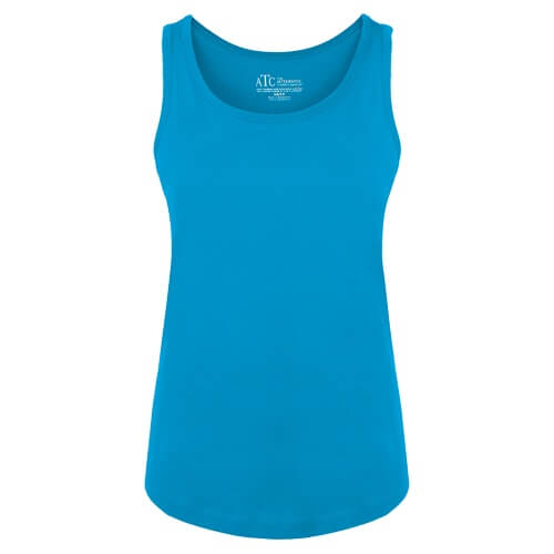 Custom Printed ATC 8004L Ladies' EuroSpun Tank Top - Front View | ThatShirt