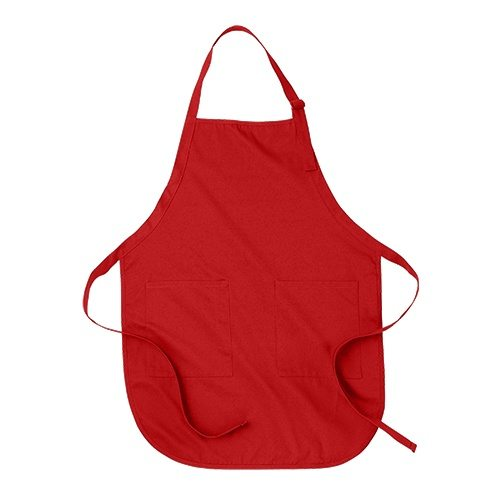 Custom Printed ATC A100 Full Length Apron with Pockets - Front View | ThatShirt