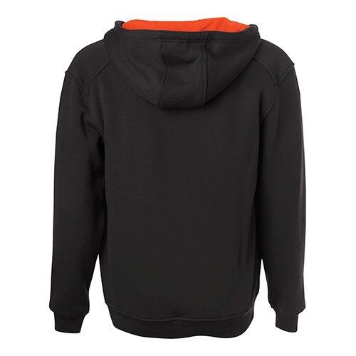Custom Printed ATC F200 Pro Fleece Hooded Sweatshirt - Black / Orange - Back View   ThatShirt