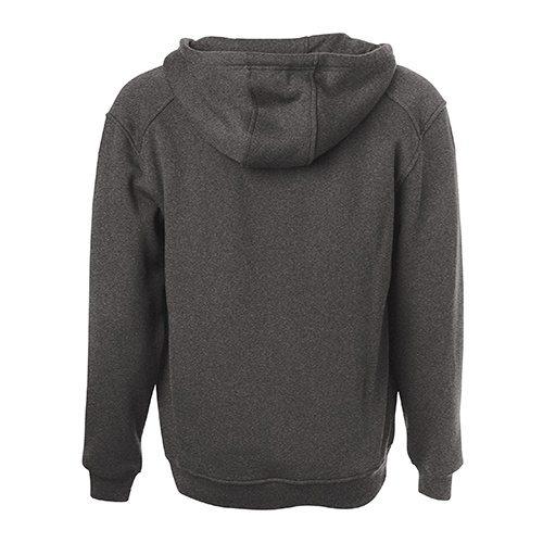 Custom Printed ATC F201 Pro Fleece Full Zip Hooded Sweatshirt - Charcoal Grey - Back View   ThatShirt