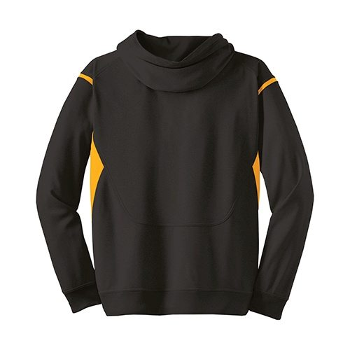 Custom Printed ATC F2201 Ptech Fleece VarCITY Hooded Sweatshirt - 1 - Back View | ThatShirt