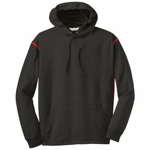Custom Printed ATC F2201 Ptech Fleece VarCITY Hooded Sweatshirt - Front View | ThatShirt