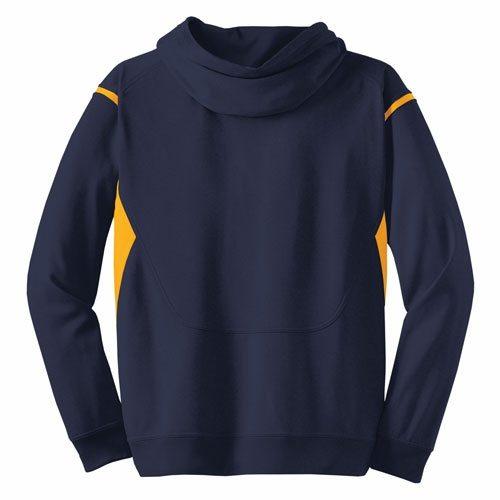 Custom Printed ATC F2201 Ptech Fleece VarCITY Hooded Sweatshirt - 4 - Back View | ThatShirt
