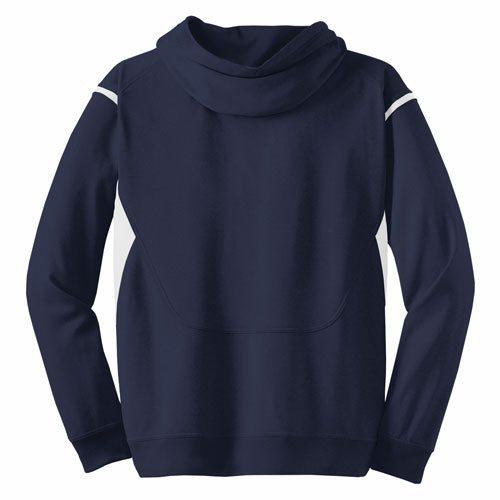 Custom Printed ATC F2201 Ptech Fleece VarCITY Hooded Sweatshirt - 5 - Back View | ThatShirt