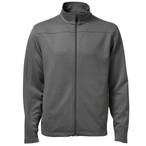 ATC F222 PTech Fleece Track Jacket Charcoal Heather Front View