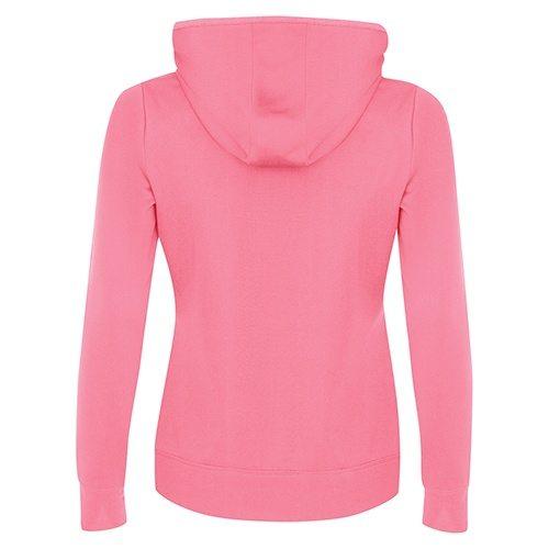Custom Printed ATC L2005 Ladies' Game Day Fleece Hooded Sweatshirt - Extreme Pink - Back View | ThatShirt
