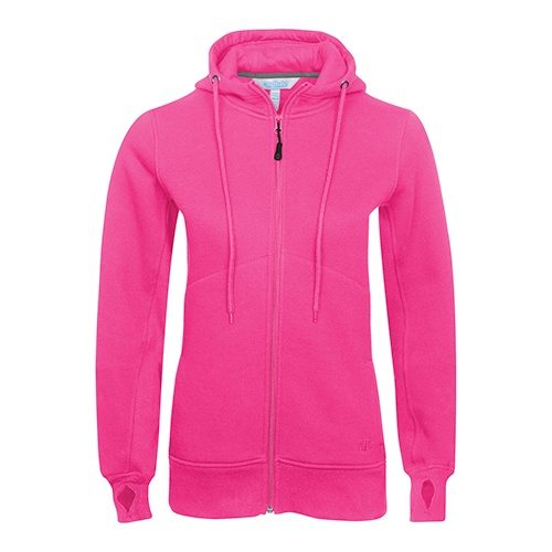 Custom Printed ATC L201 Ladies' Pro Fleece Full Zip Hooded Sweater - Front View | ThatShirt