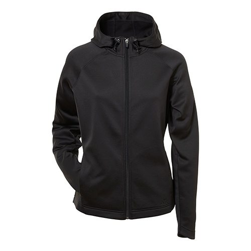 Custom Printed ATC L221 Ladies' PTech Fleece Hooded Jacket - Front View | ThatShirt