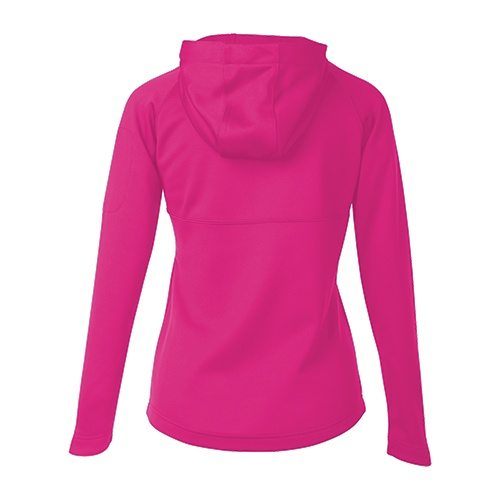 Custom Printed ATC L221 Ladies' PTech Fleece Hooded Jacket - Raspberry - Back View | ThatShirt