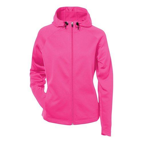 Custom Printed ATC L221 Ladies' PTech Fleece Hooded Jacket - Front View | ThatShirt