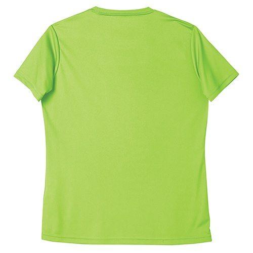 Custom Printed ATC L350 Ladies Pro Team Short Sleeve Tee - Lime Shock - Back View | ThatShirt