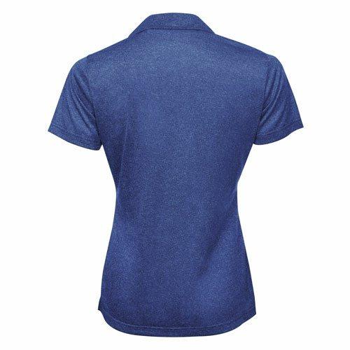 Custom Printed ATC L3518 Ladies' Pro Team Performance Golf Shirt - Cobalt Heather - Back View   ThatShirt