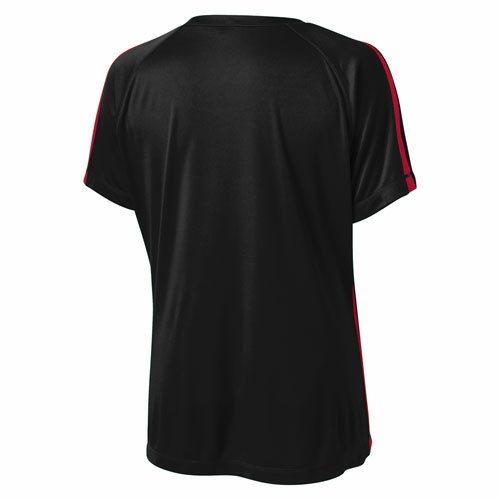 Custom Printed ATC L3519 Ladies' Pro Team Sport Jersey T-shirt - Black / True Red - Back View | ThatShirt