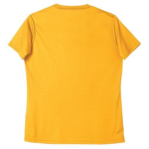 Custom Printed ATC L3520 Ladies' Pro Team Short Sleeve V-Neck Tee - Gold - Back View | ThatShirt