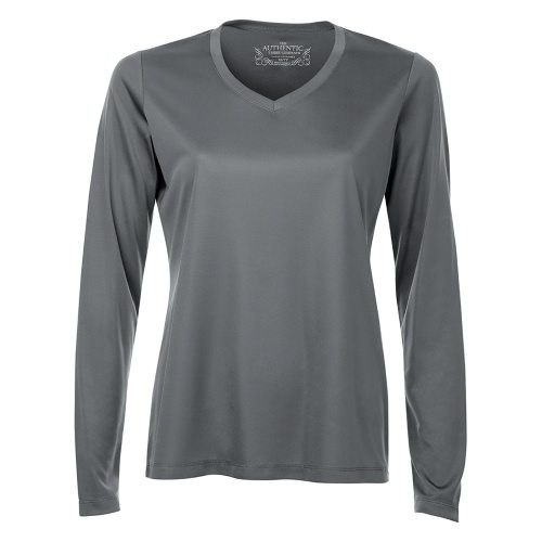 Custom Printed ATC L3520LS Pro Team V-Neck Long Sleeve Ladies' Tee - Front View | ThatShirt