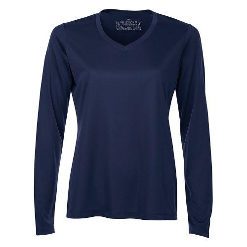 Custom Printed ATC L3520LS Pro Team V-Neck Long Sleeve Ladies' Tee - Front View | ThatShirt