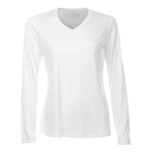 Custom Printed ATC L3520LS Pro Team V-Neck Long Sleeve Ladies' Tee - 5 - Front View | ThatShirt