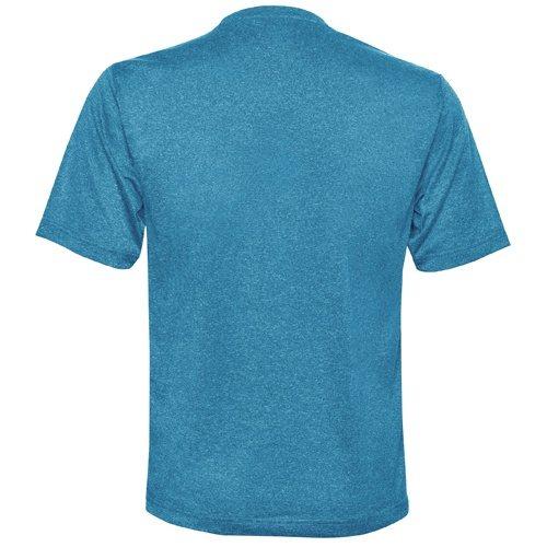 Custom Printed ATC S3517 Pro Team Performance Tee - Blue Wake Heather - Back View | ThatShirt