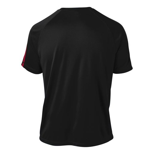 Custom Printed ATC S3519 Pro Team Jersey - Black / True Red - Back View | ThatShirt