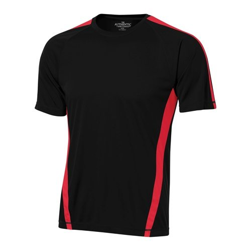 Custom Printed ATC S3519 Pro Team Jersey - Black / True Red - Front View | ThatShirt