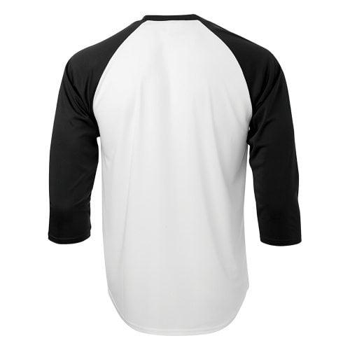 Custom Printed ATC S3526 Pro Team Baseball Jersey - White / Black - Back View | ThatShirt