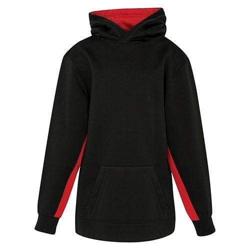 Custom Printed ATC Y2011 Youth Game Day Fleece Colour Block Hooded Sweatshirt - Front View | ThatShirt