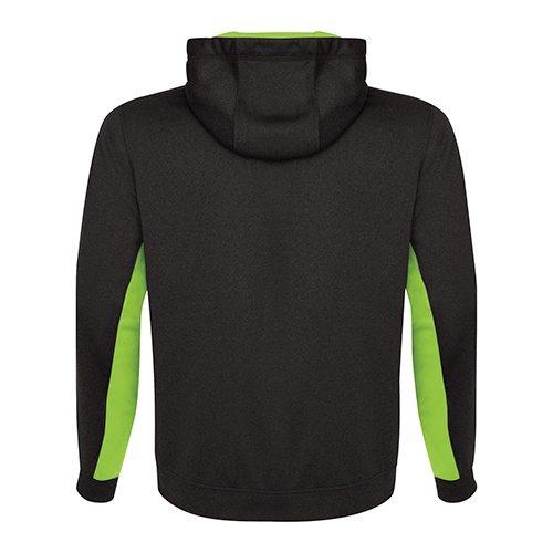 Custom Printed ATC Y2011 Youth Game Day Fleece Colour Block Hooded Sweatshirt - Charcoal / Lime Shock - Back View | ThatShirt