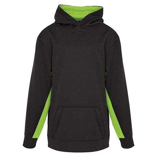 Custom Printed ATC Y2011 Youth Game Day Fleece Colour Block Hooded Sweatshirt - Front View | ThatShirt