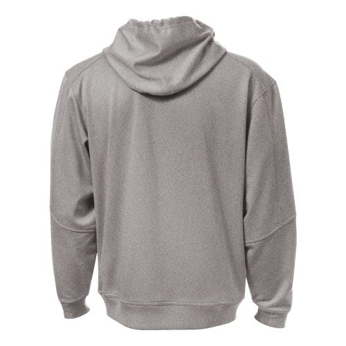 Custom Printed ATC Y220 Youth PTech Fleece Hooded Sweatshirt - Sport Heather Grey - Back View | ThatShirt