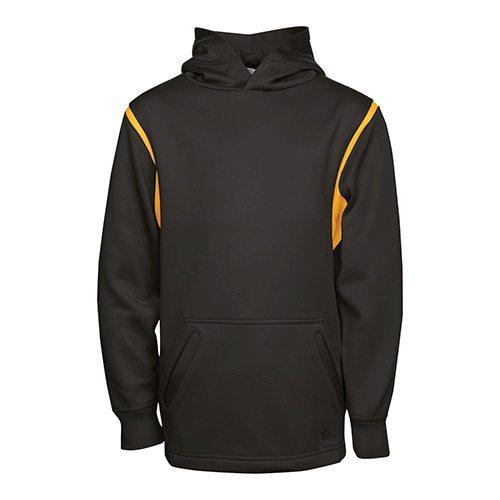 Custom Printed ATC Y2201 Youth Ptech Fleece Varsity Hooded Sweatshirt - Front View | ThatShirt