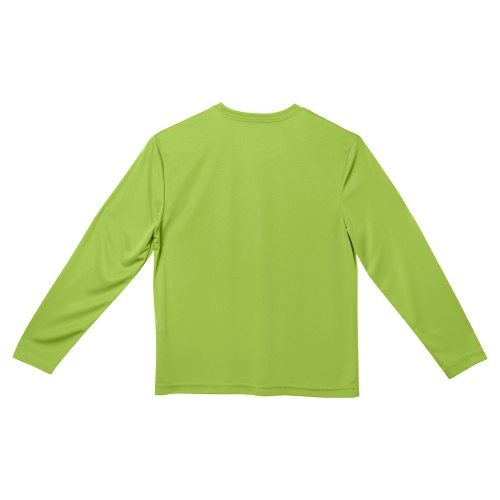 Custom Printed ATC Y350LS Youth Pro Team Long Sleeve Youth Tee - Lime Shock - Back View | ThatShirt
