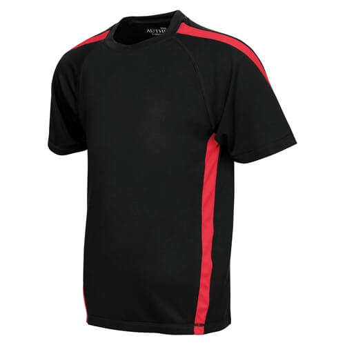 ATC Y3519 Youth Pro Team Jersey Black / True Red Front View