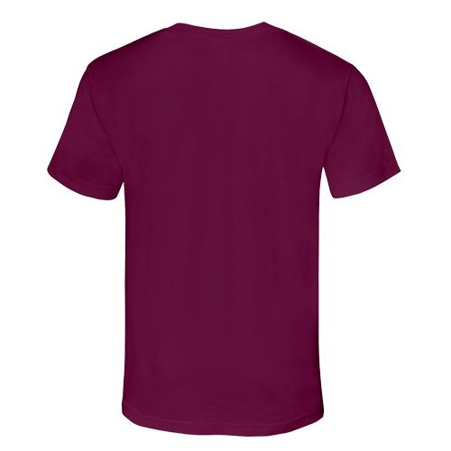 Custom Printed Alstyle 1301 Cotton Unisex T-shirt - Burgundy - Back View | ThatShirt