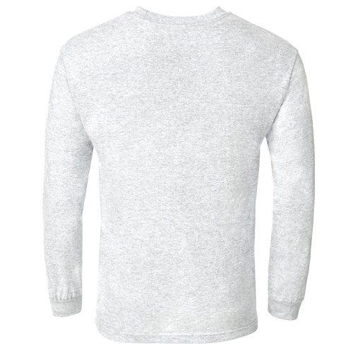 Custom Printed Alstyle 1304 Cotton Long Sleeve Tee - 1 - Back View | ThatShirt