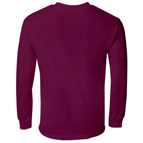 Custom Printed Alstyle 1304 Cotton Long Sleeve Tee - 4 - Back View | ThatShirt