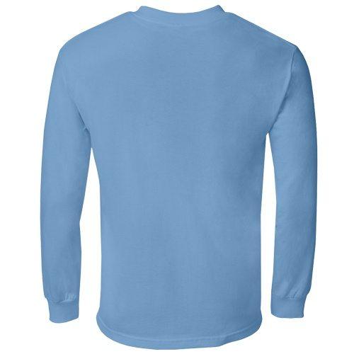 Custom Printed Alstyle 1304 Cotton Long Sleeve Tee - 6 - Back View | ThatShirt