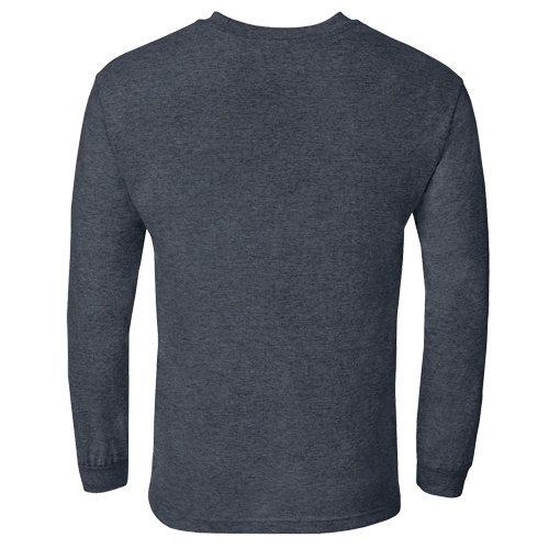 Custom Printed Alstyle 1304 Cotton Long Sleeve Tee - 0 - Back View | ThatShirt